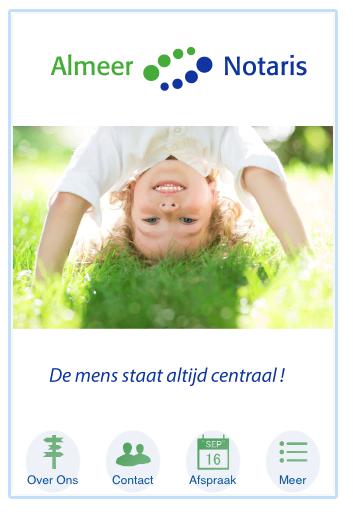 Almeer Notaris app home